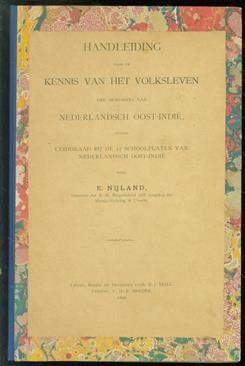Handleiding voor de kennis van het volksleven der bewoners van Nederlandsch Oost-Indië : tevens leiddraad bij de 12 schoolplaten van Nederlandsch Oost-Indië