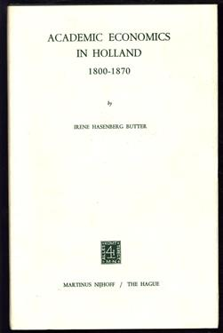 Academic economics in Holland, 1800-1870