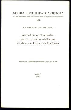 Armoede in de Nederlanden van de 14e tot het midden van de 16e eeuw: bronnen en problemen