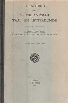 Tijdschrift voor Nederlandsche taal- en letterkunde