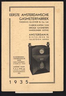 (BROCHURE) Eerste Amsterdamsche gasmeterfabriek