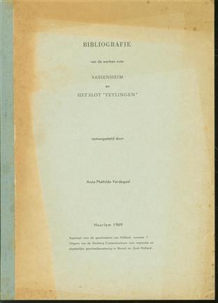 Bibliografie van de werken over Sassenheim en het slot Teylingen.