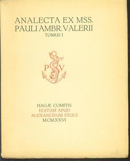 Analecta ex mss. Pauli Ambrosii Valerii ad usum amicorum ejus qui a septemtrione habitant
