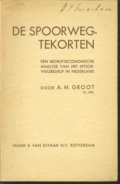 De spoorwegtekorten, een bedrijfseconomische analyse van het spoorwegbedrijf in Nederland