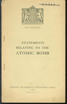 Statements relating to the atomic bomb