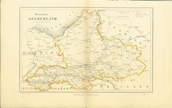 GELDERLAND = overzichtskaart van deze gemeenteatlas - . Map Kuyper Gemeente atlas van GELDERLAND