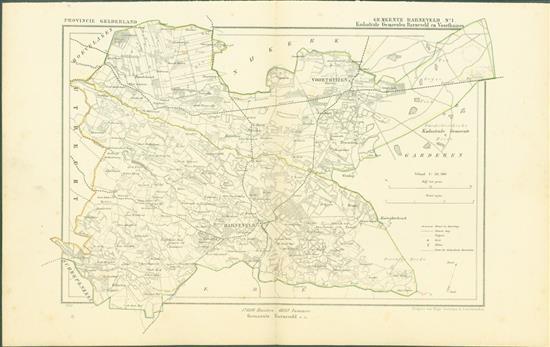 BARNEVELD ( Kadastrale gemeenten BARNEVELD en VOORTHUIZEN ). Map Kuyper Gemeente atlas van GELDERLAND