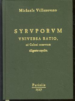 Syruporum universa ratio