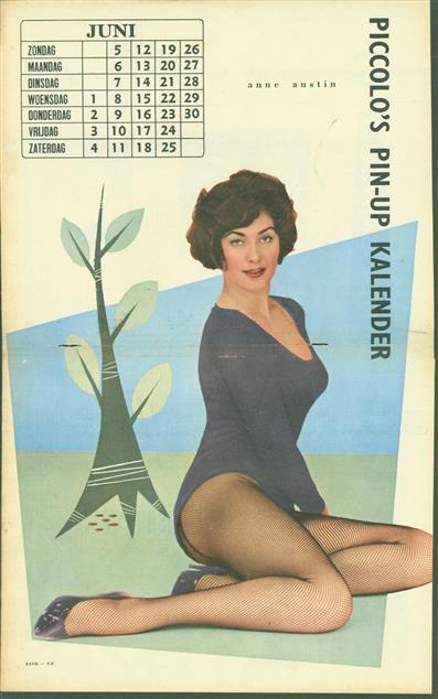 (SMALL POSTER / PIN-UP) Piccolo Kalender - 1960 ? Juli - Anne Austin