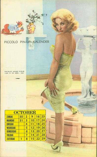 (SMALL POSTER / PIN-UP) Piccolo Kalender - 1960 ? Oktober -  Shirley Anne Field