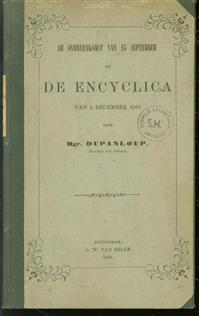 De overeenkomst van 15 September en de Encyclica van 8 December 1864