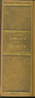 Algemeene geschiedenis van Friesland, een volksleesboek ( 2 delen ingebonden in 1 band )