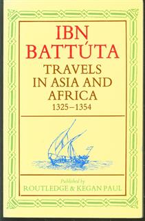 travels in Asia and Africa, 1325-1354.