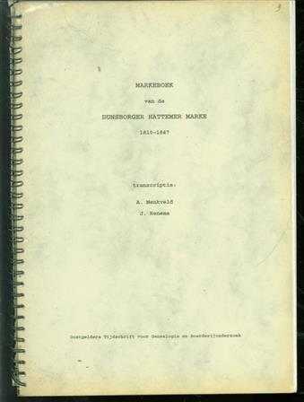 Markeboek van de Dunsborger Hattemer marke : 1810-1847