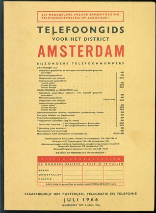 Telefoongids voor het district AMSTERDAM