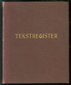 Tekstregister op de werken van A. Kuyper