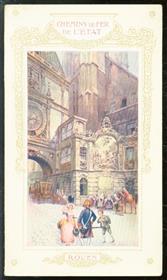 (TOERISME / TOERISTEN BROCHURE) Une journee a Rouen ( chemins de Fer de L'État )