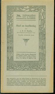 Hoef en hoefbeslag - Goedkoope geillustreerde land en tuinbouw bibliotheek van de Veldbode ( nr 26 )