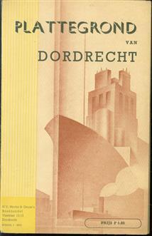 Plattegrond van Dordrecht.