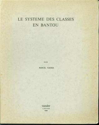 Le systeme des classes en Bantou