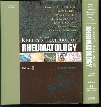Kelley;s textbook of rheumatology ( set 2 vols + cd )