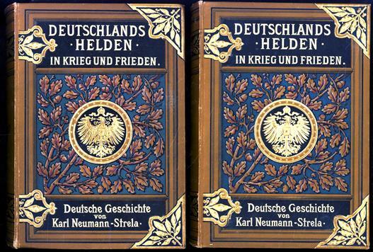 Deutschlands Helden in Krieg und Frieden. ( compete set 3 parts in 2 vols )