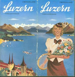 (TOERISME / TOERISTEN BROCHURE) Zwitserland Luzern Vierwaldstättermeer
