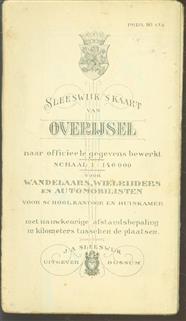 (PLATTEGROND / KAART - CITY MAP / MAP) Sleeswijk's  kaart van Overijsel