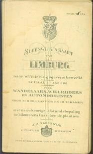 (PLATTEGROND / KAART - CITY MAP / MAP) Sleeswijk's  kaart van Limburg