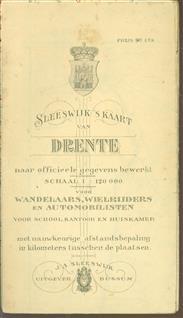 (PLATTEGROND / KAART - CITY MAP / MAP) Sleeswijk's  kaart van Drenthe