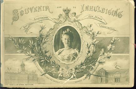 Souvenir aan de inhuldiging, Amsterdam Den Haag, september 1898, leger revue
