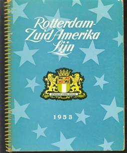 Een gelukkig kerstfeest en een voorspoedig nieuwjaar wenst de Rotterdam-Zuid Amerika Lijn : 1956.