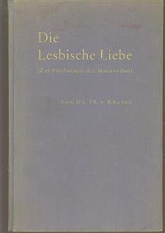 Lesbische Liebe ( Zur psychologie des Mannweibes ) ( incompleet )