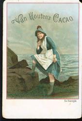 Vissersvrouw aan de kust - Fisherwoman on the coast
