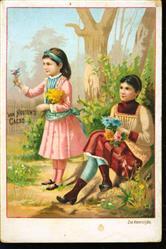 2 zusjes met bloemen - 2 sisters with flowers
