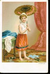 Meisje met parasol van riet - Girl with cane parasol