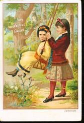 2 meisjes spelen met de schommel - 2 girls play with the swing