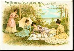4 dames houden picknick - 4 ladies hold picnic