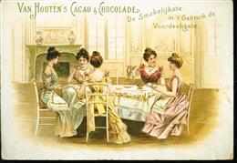 Theevisite van 5 dames - Tea visit of 5 ladies