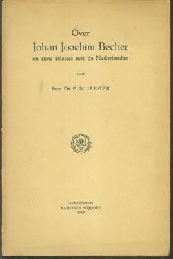 Over Johan Joachim Becher en zijne relaties met de Nederlanden