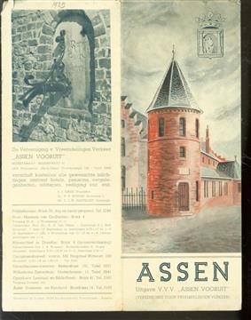 (TOERISME / TOERISTEN BROCHURE) ASSEN - Uitgave V.V.V. : Assen vooruit