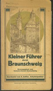 (TOERISME / TOERISTEN BROCHURE) Kleiner Fuhrer durch Braunschweig mit Stadtkarte. u. Theaterplan ( kriegsausgabe )
