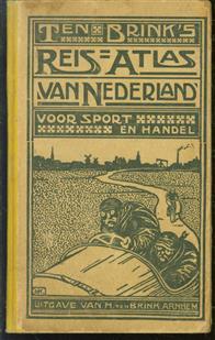 Ten Brink's Reisatlas van Nederland, voor sport en handel, met alphabetische klapper - ( 8e druk )