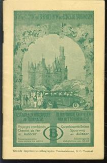 (TOERISME / TOERISTEN BROCHURE) Rondrit per autocar : de historische kasteelen : ingericht door de Nationale maatschappij der Belgische spoorwegen.