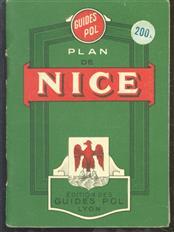 (TOERISME / TOERISTEN BROCHURE) Plan de Nice :avec nomenclature des rues, boulevards, passages, places, quais, Avenues, Ponts, etc., Carte de la region.