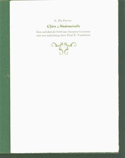Chere mademoiselle, een onbekende brief aan Suzanne Lonneux ( nr 10 van 140 )