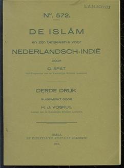 De Islam en zijn beteekenis voor Nederlandsch-Indië,