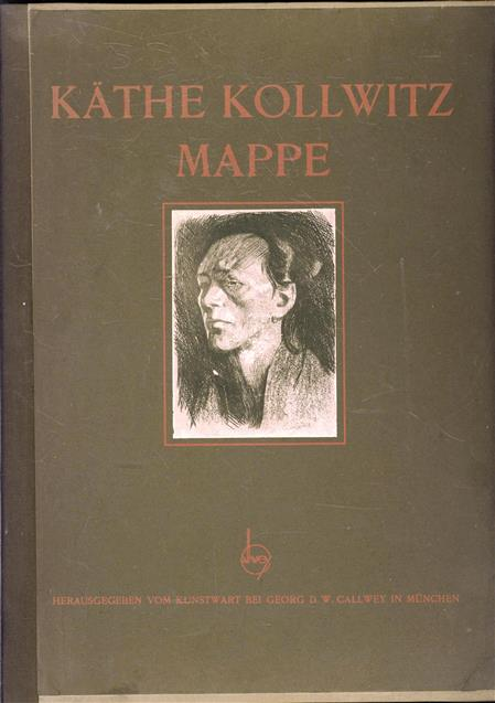 Kathe Kollwitz-mappe, ( complete with 12 large prints and 7 small ones in text and on cover )