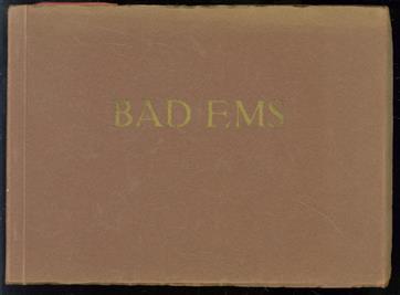 (TOERISME / TOERISTEN BROCHURE) Erinnerung an Bad-Ems : 20 Ansichten = Souvenir d'Ems.