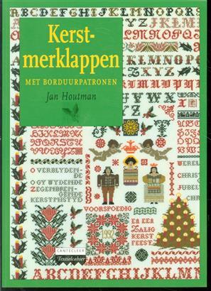 Kerst-merklappen met borduurpatronen